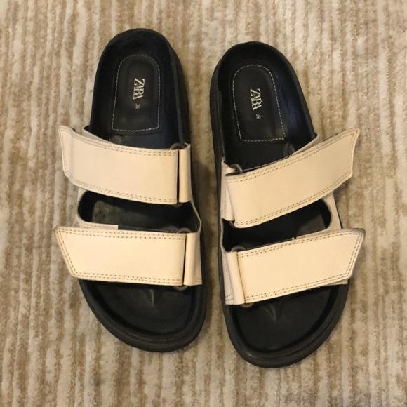 Zara Velcro Adjustable Sandals Size 38/8